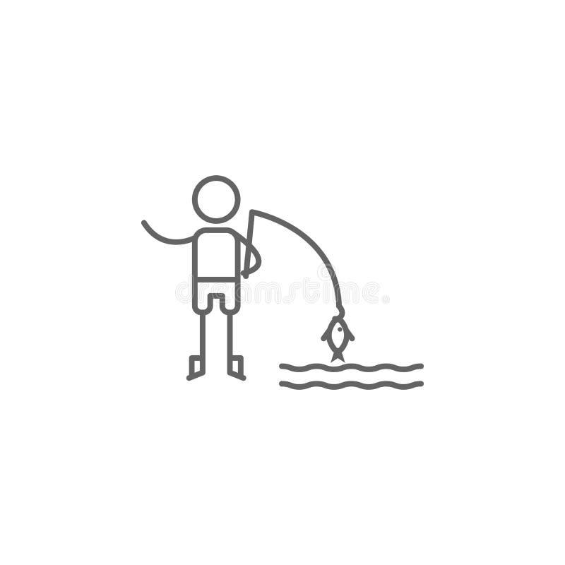 Eis-Fischen, Abenteuerikone Element der Abenteuerikone D?nne Linie Ikone f?r Websitedesign und Entwicklung, APP-Entwicklung vektor abbildung
