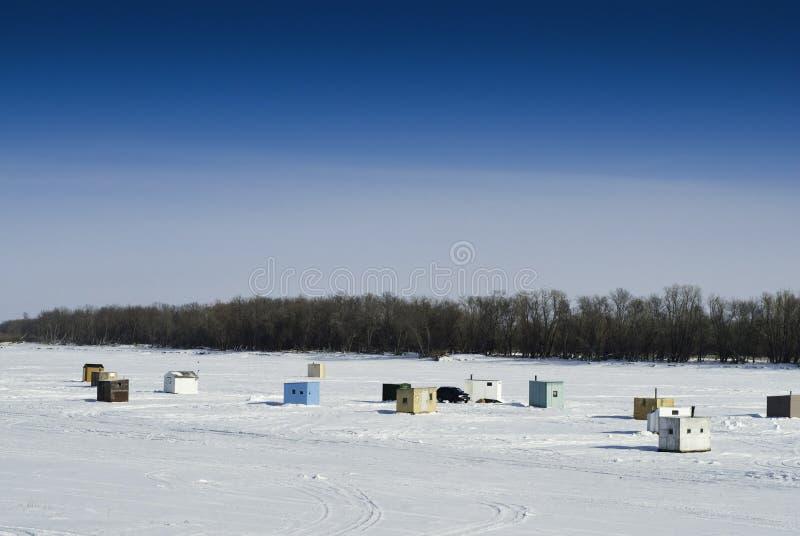 Eis-Fischen-Hallen lizenzfreie stockbilder