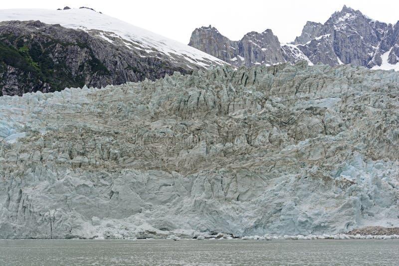 Eis-Front eines Gezeiten- Gletschers lizenzfreie stockbilder