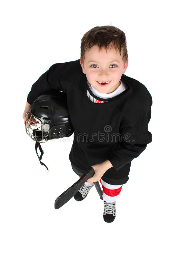 Eis-Hockey-Junge lizenzfreie stockfotografie