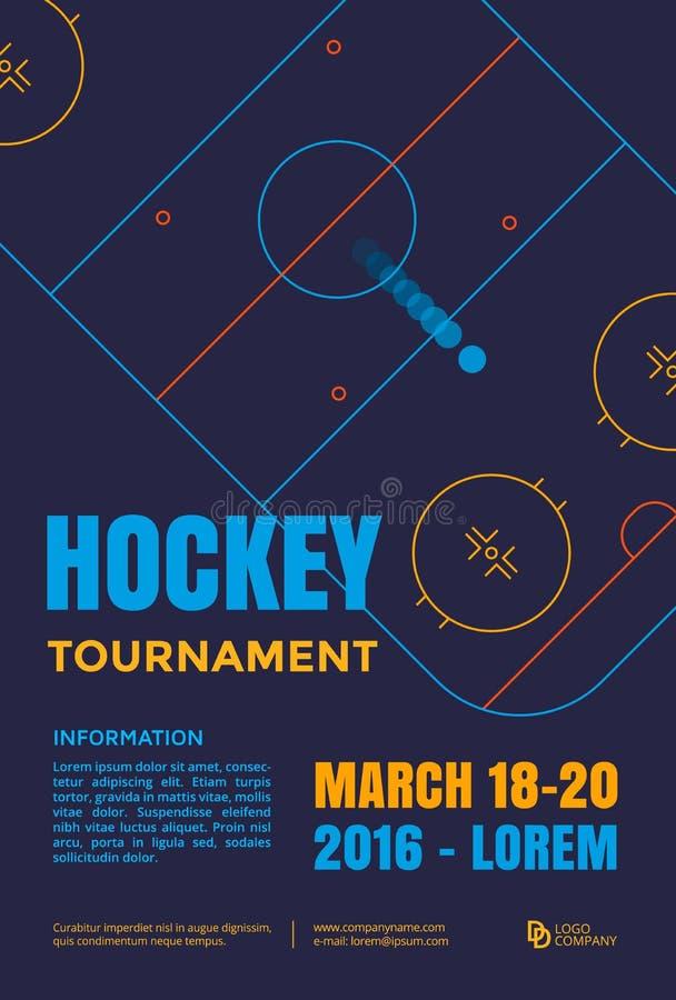 Eis-Hockey-Plakat stock abbildung