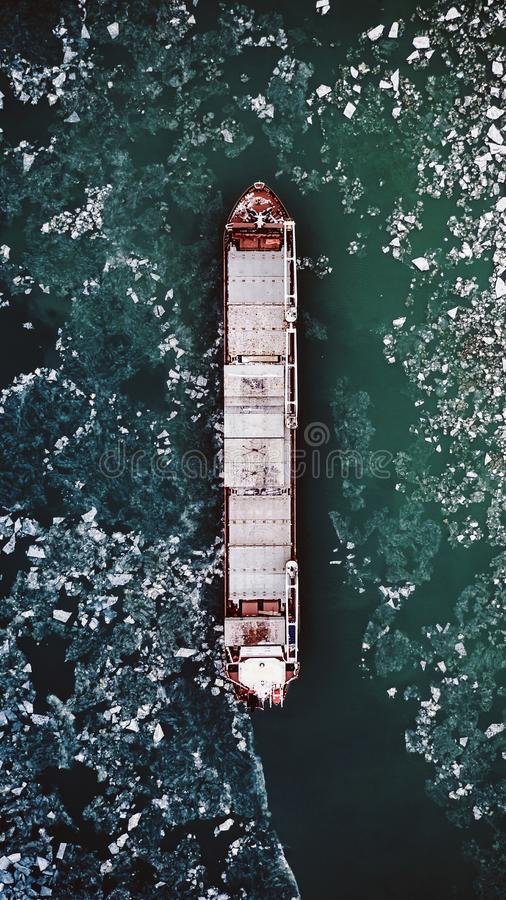Eis-Schiff lizenzfreies stockbild
