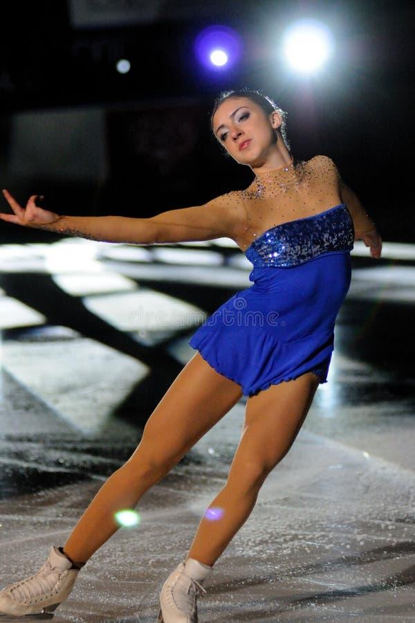 Eis-Schlittschuhläufer Francesca Rio - italienische Meisterschaft stockbild
