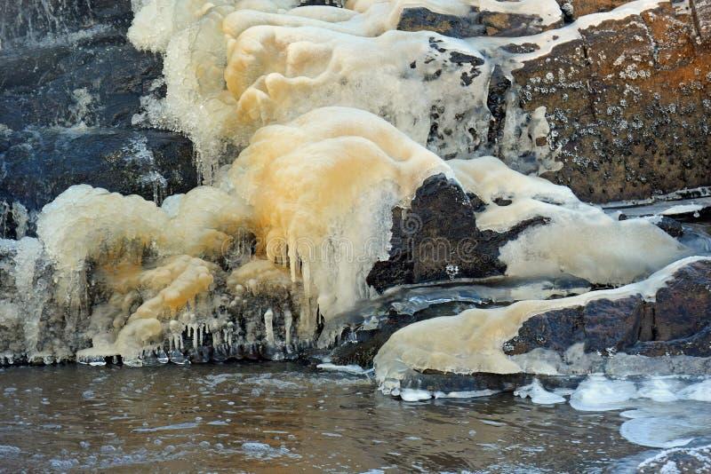 Eis und Wasser lizenzfreies stockbild