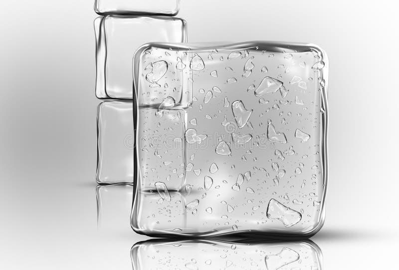 Eis-Würfel lizenzfreie stockbilder
