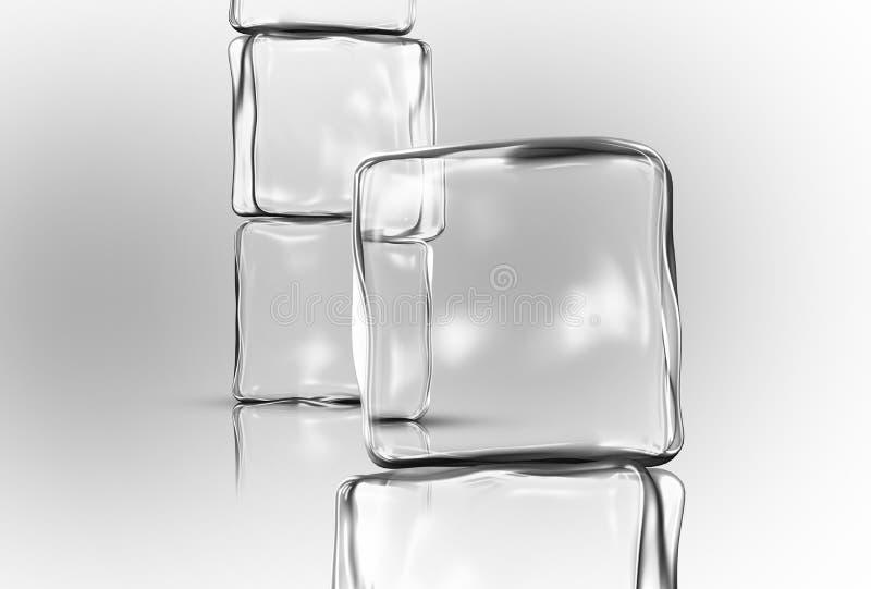 Eis-Würfel lizenzfreie stockfotografie