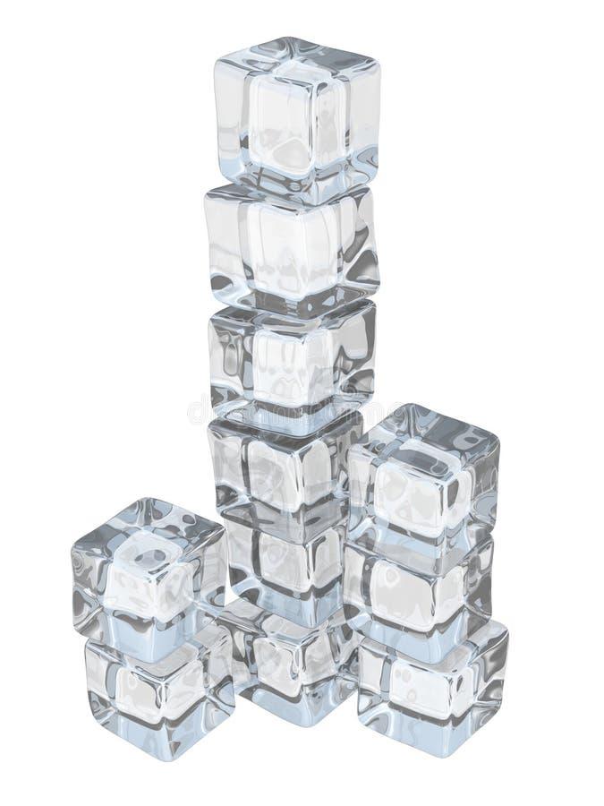 Eis-Würfel-Kontrollturm lizenzfreie abbildung