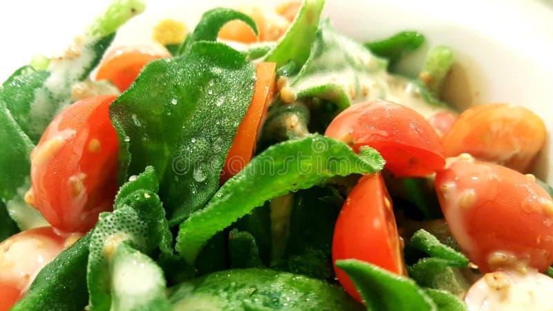Eisanlage mit Cherry Tomato Salat stockfotos