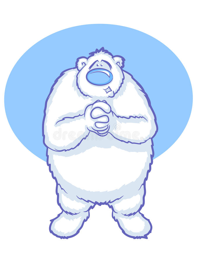 Eisbär-Karikatur lizenzfreie abbildung