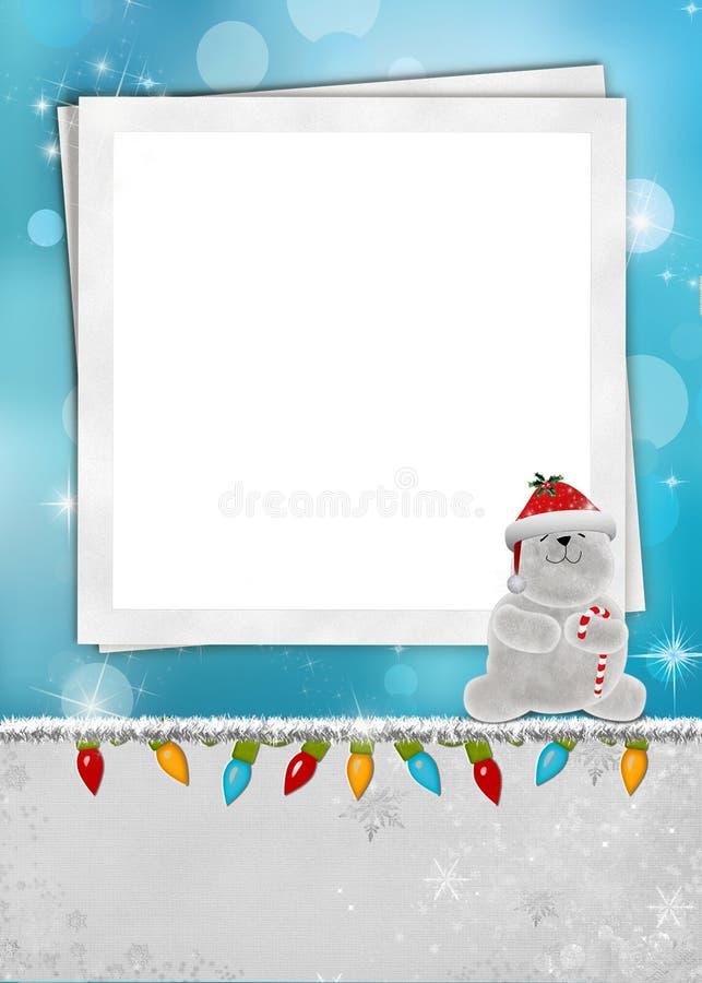 Eisbär-Weihnachtsrahmen vektor abbildung