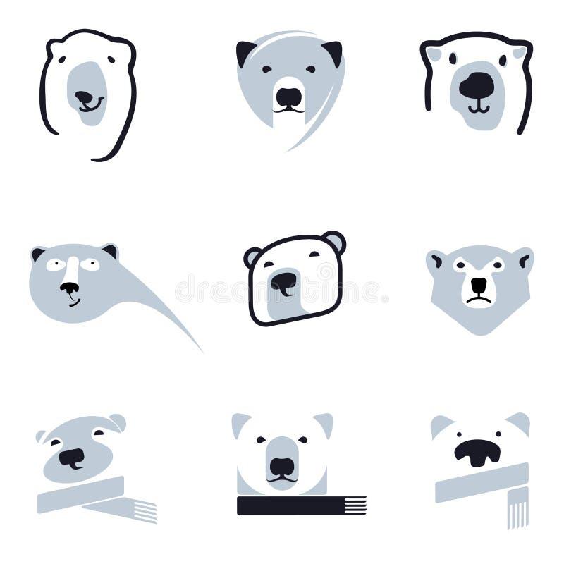 Eisbärlogo lizenzfreie abbildung