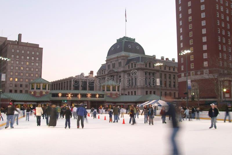 Eisbahn des Eises. stockfotografie