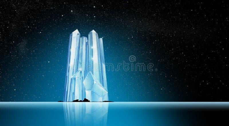 Eisberg in der Fantasie-Landschaft stockbilder