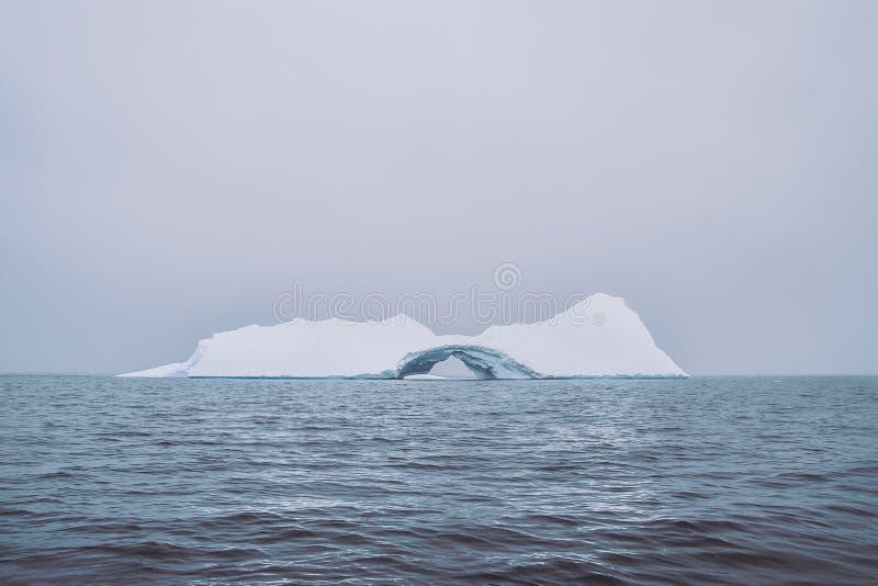 Eisberg mitten in dem Wasser stockbilder