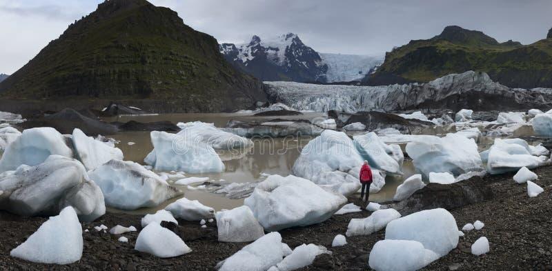 Eisberge in Glazial- Lagune Jokulsarlon  lizenzfreies stockfoto