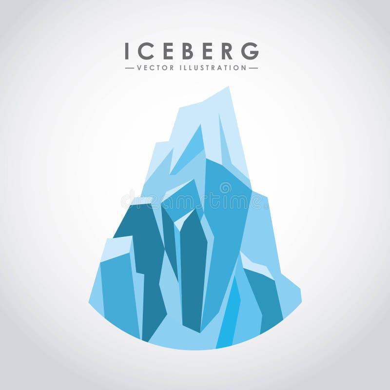 Eisberggletscherdesign lizenzfreie abbildung