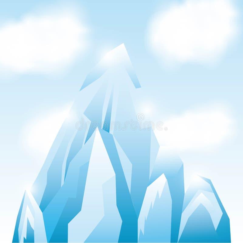 Eisberggletscherdesign vektor abbildung