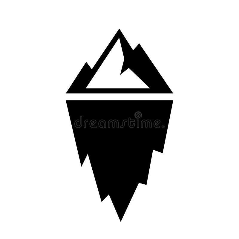 Eisbergschattenbild-Vektorikone lizenzfreie abbildung