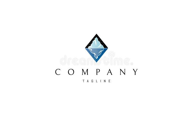 Eisbergvektor-Logobild lizenzfreie abbildung