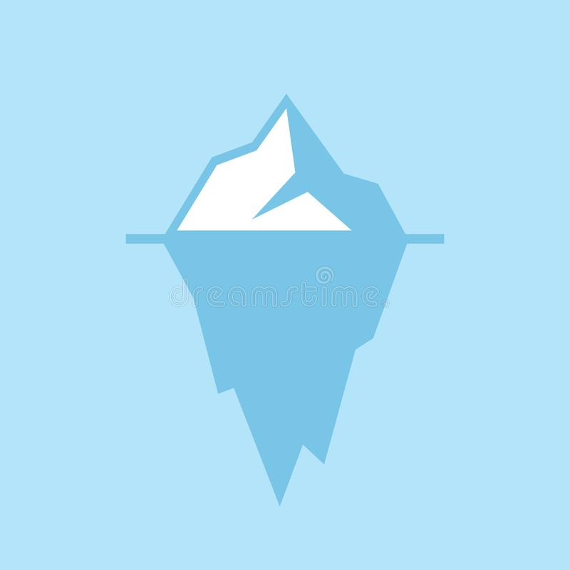 Eisbergvektorikone stock abbildung