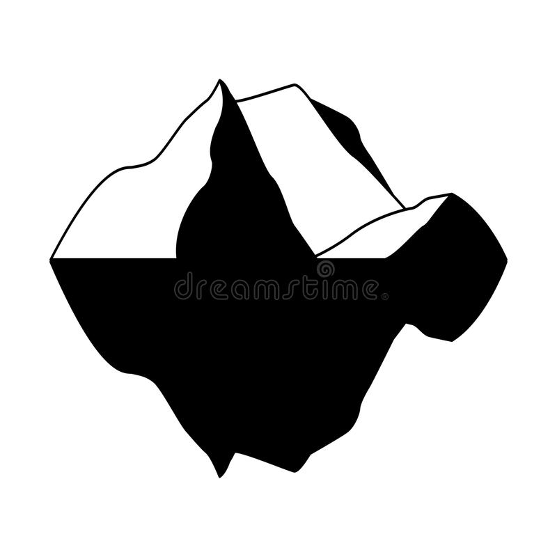 Eisbergvektorikone lokalisiert auf weißem Hintergrund Eis Berg-Vektorikone Clipart des Eisbergvektors ENV vektor abbildung