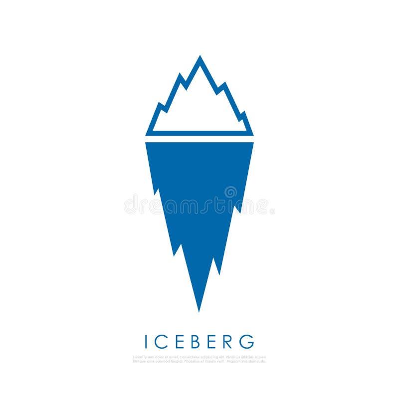 Eisbergvektorillustration vektor abbildung