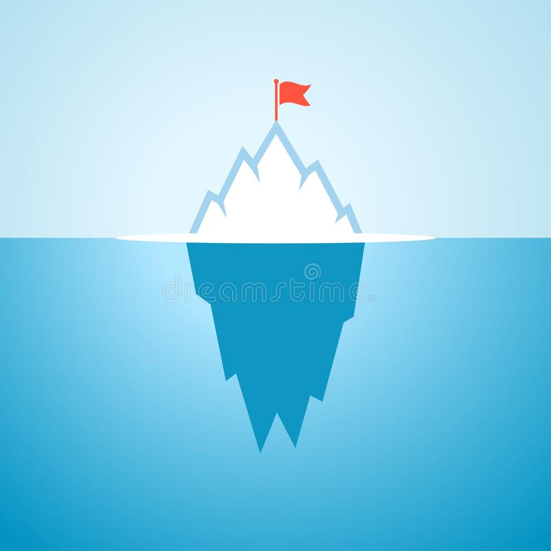 Eisbergvektorkarikatur stock abbildung