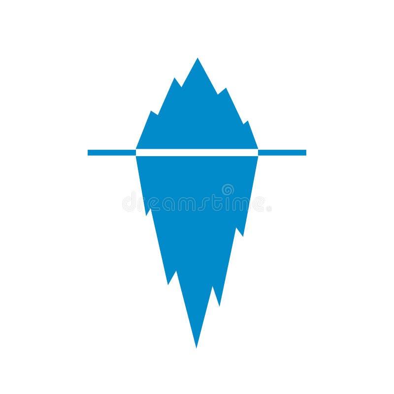 Eisbergvektorpiktogramm lizenzfreie abbildung