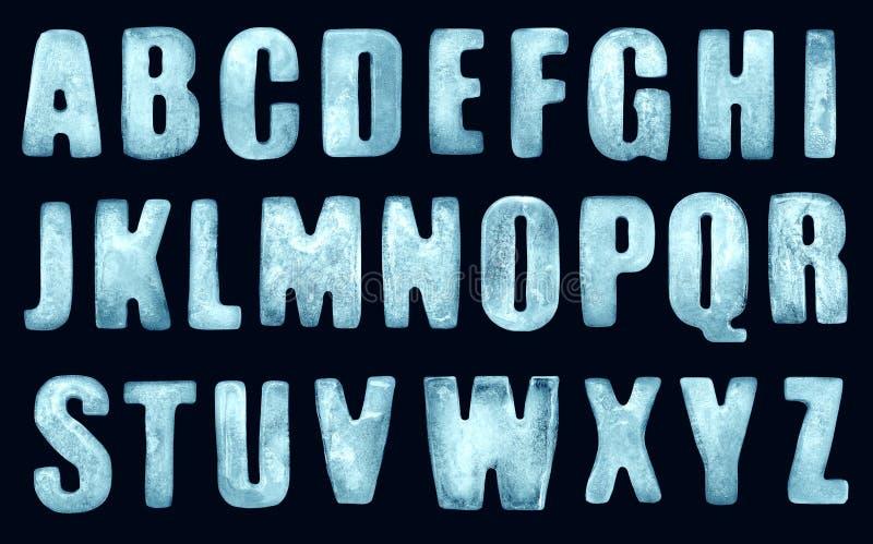 Eisbuchstaben lizenzfreies stockfoto