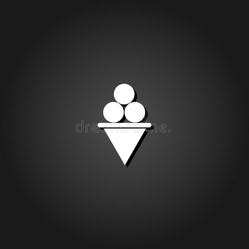 Eiscreme-Ikone flach vektor abbildung