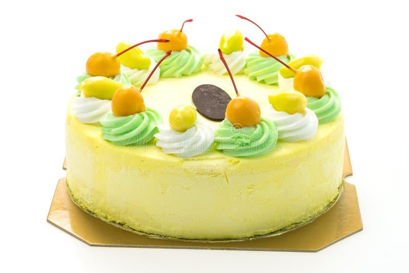 Eiscreme-Mangokuchen lizenzfreie stockfotografie