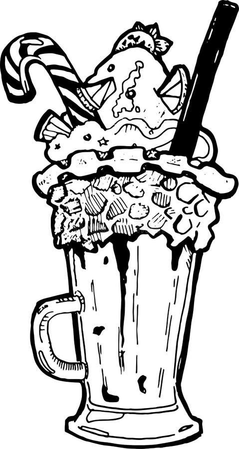 Eiscreme mit einem Karamellstock lizenzfreies stockbild