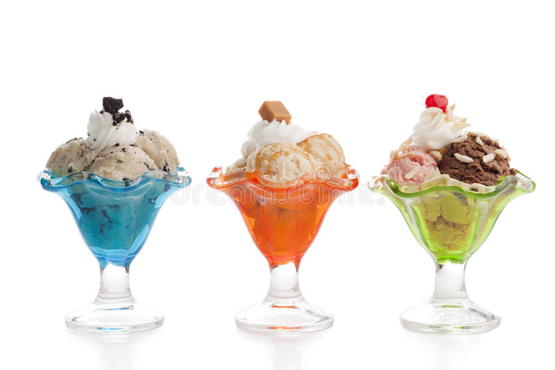 Eiscreme unterschiedliche Variante drei von lizenzfreie stockfotografie