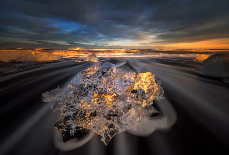 Eisdiamant stockfoto