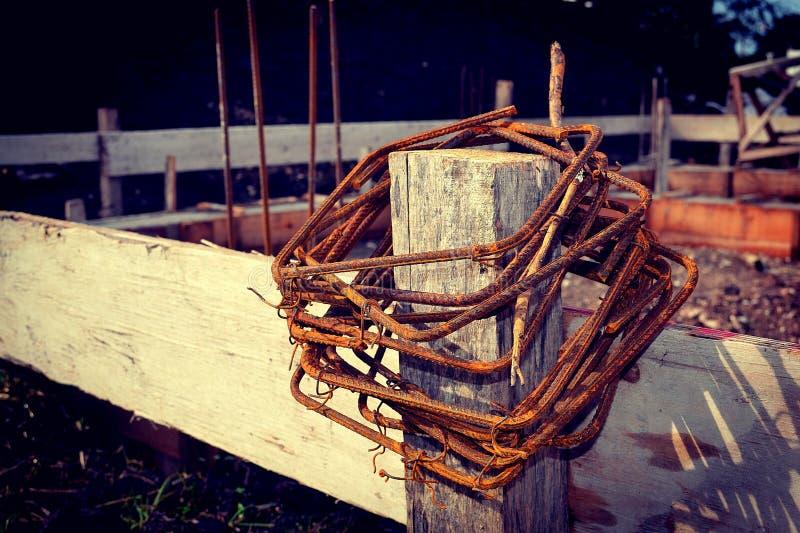 Eisen für Beton stockfoto