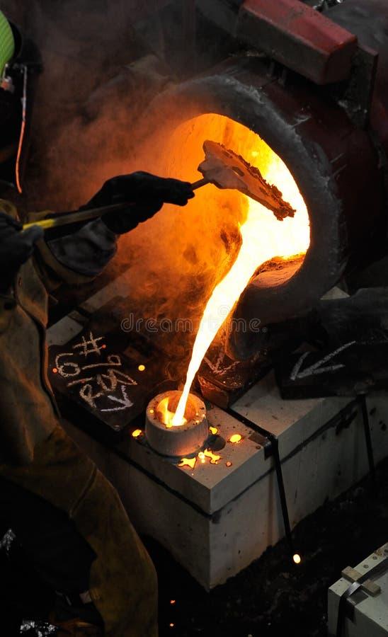 Eisen laufen - das Blocken der Schlacke aus