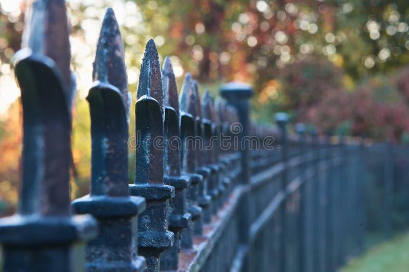 Eisen-Zaun stockbilder