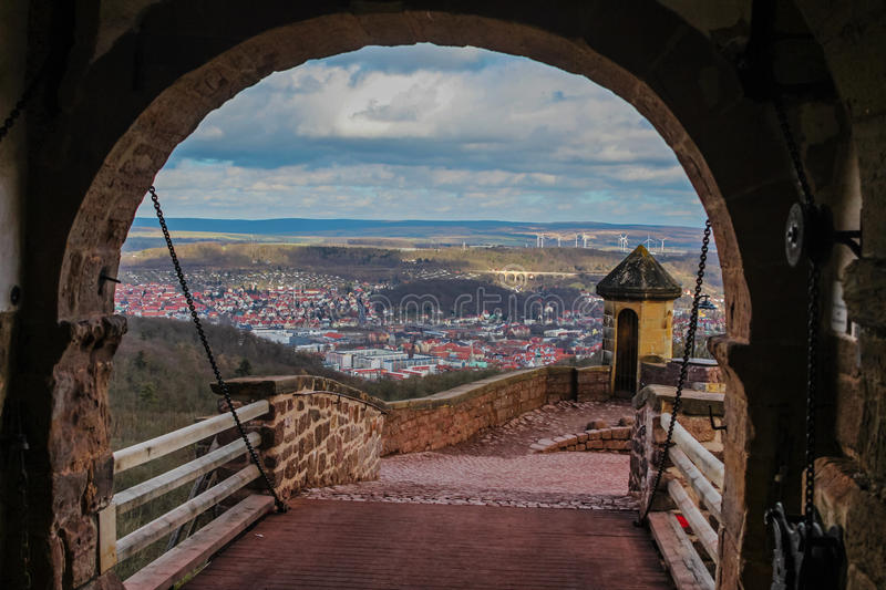 Eisenach and countryside from Wartburg castle royalty free stock photo