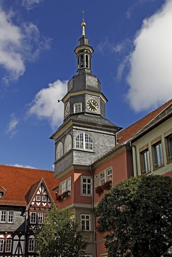 Eisenach - historisch stadhuis royalty-vrije stock afbeeldingen