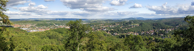 Eisenach Tyskland - panorama royaltyfri bild