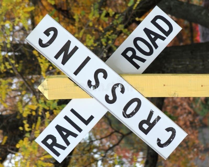 Eisenbahnüberfahrt stockbild