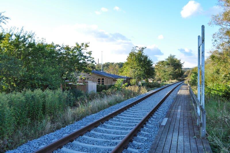 Eisenbahn in Aalborg Dänemark stockfotografie