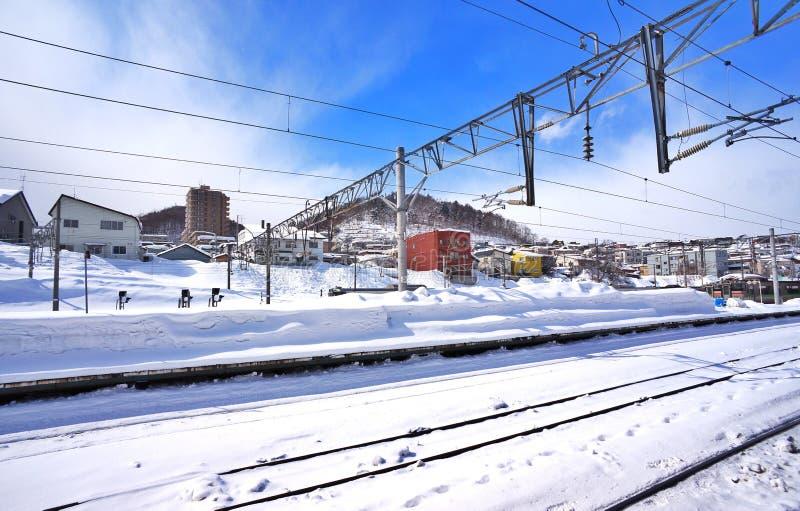 Eisenbahn im Schnee Russland, UralJanuary, Temperatur -33C lizenzfreie stockfotos