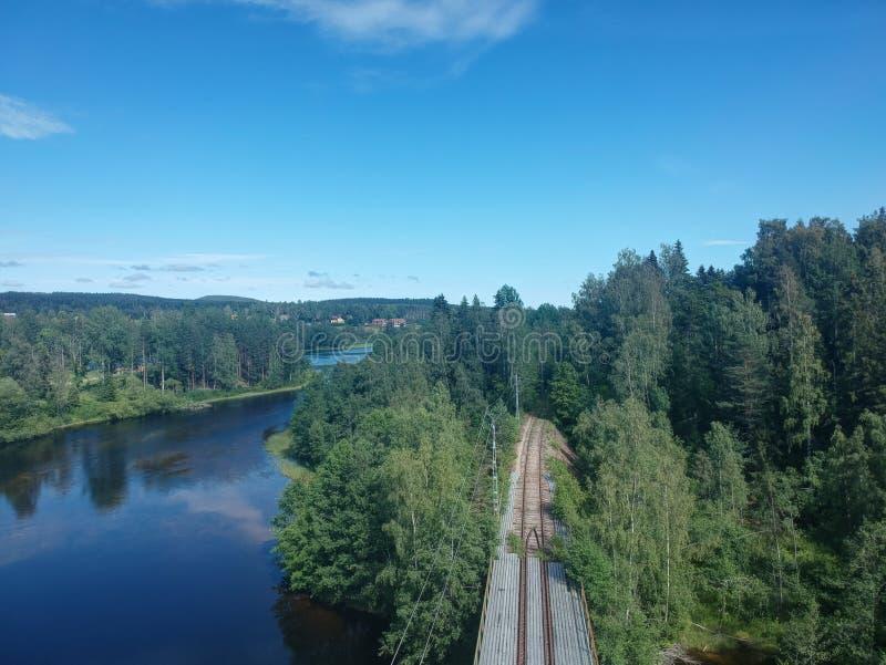 Eisenbahn in Nasviken stockfotos