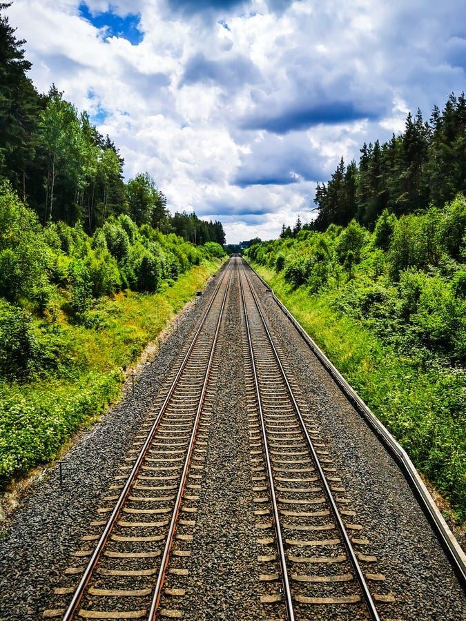 Eisenbahn ohne ein Ende stockfoto