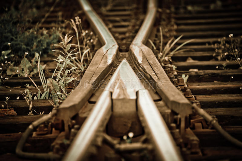Eisenbahn-Spuren stockfotografie