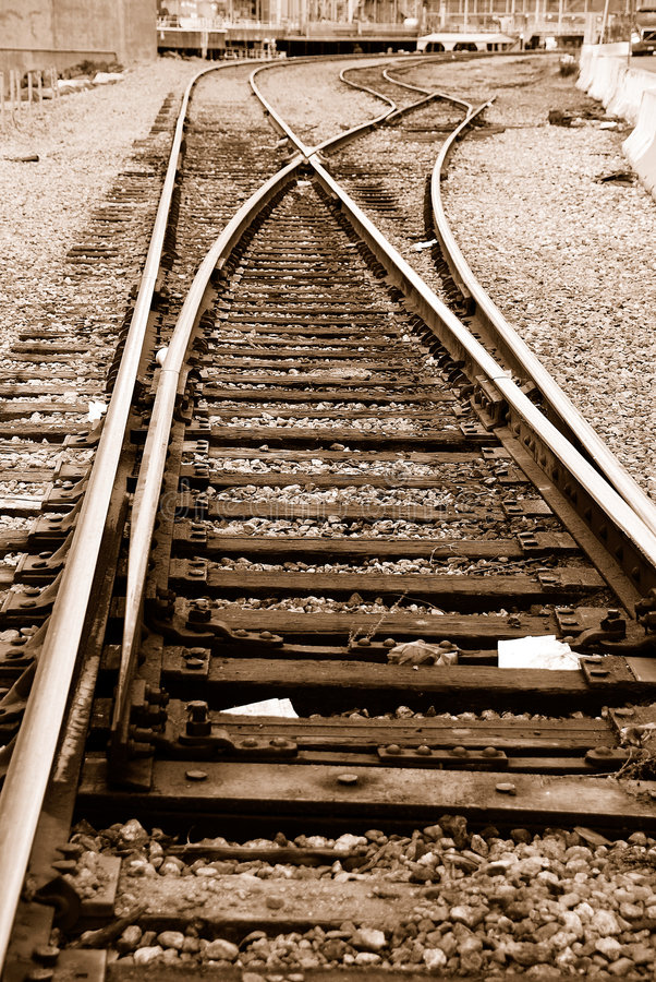 Eisenbahn-Spuren lizenzfreies stockbild