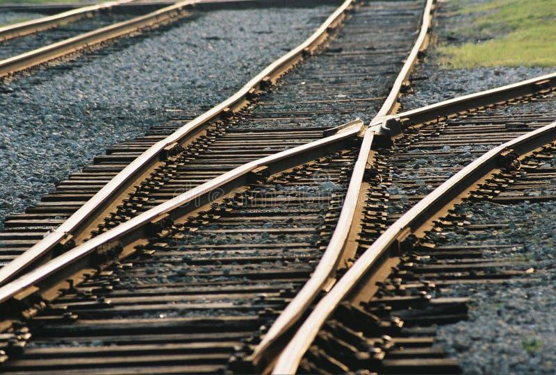 Eisenbahn-Verzweigung lizenzfreie stockbilder