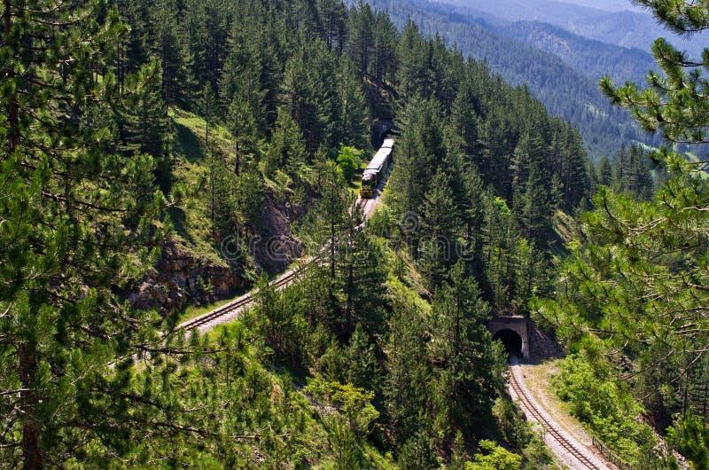 Eisenbahn von Sharganska Osmica in Serbien lizenzfreie stockbilder