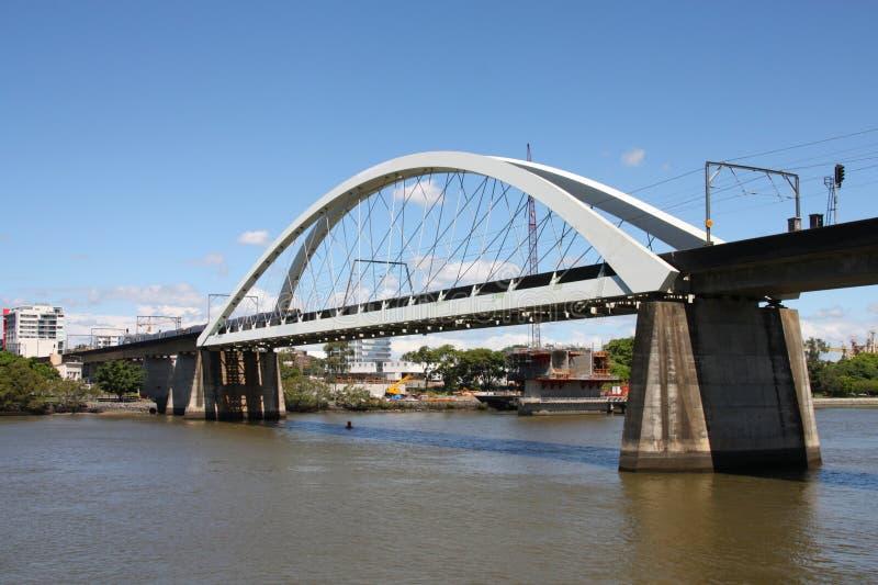 Eisenbahnbrücke stockfoto